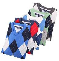Tommy Hilfiger Men Classic Fit V-Neck Argyle Long Sleeve Sweater - $0 Free Ship