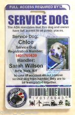 HOLOGRAPHIC SERVICE DOG ID CARD FOR SERVICE ANIMAL ADA RATED   0BH