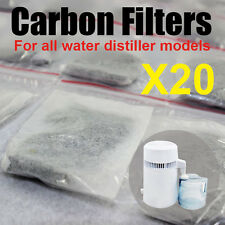 20X Water Distiller Activated Carbon Filters Packs Bags Removing Compound Pure
