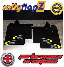 rallyflapZ SUBARU IMPREZA Blobeye (01-07) Mud Flaps Black WR1 Logo 4mm PVC