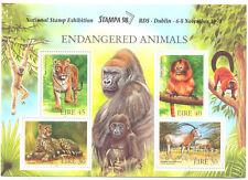 Ireland-Endangered Animal min sheet Stampa overprint(1205)