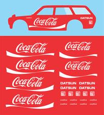 Hot wheels 1/64 White Toner Water Slide Decals Datsun 510 Wagon Coca - Cola 026