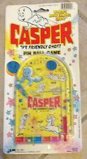 Casper The Friendly Ghost Carded Pin Ball Game Toy Set Ja-Ru Mint on Card 1988