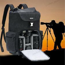 Waterproof Large Canvas Camera Bag Backpack Case For Canon Nikon Sony SLR DSLR