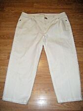 MICHAEL KORS WHITE STRETCH DENIM JEAN CAPRIS Size 14W