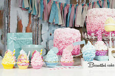 STUNNING SHABBY CHIC CAKE BAKING CANVAS #875 WALL HANGING PICTURE ART A1