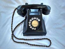 Art Deco Vintage Black Bakelite Telephone antique dial phone 164S44/1