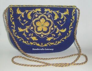 Fashionable Embroidery Wedding Purse For Ladies, New Embroidery Design Purse