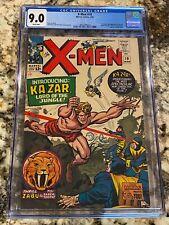X-MEN #10 CGC 9.0 RARE WHITE PAGES HIGH END 1ST SA KA-ZAR & ZABU THE SABERTOOTH