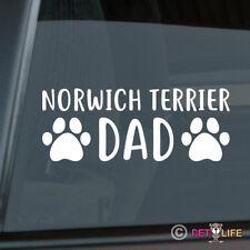 Norwich Terrier Dad Sticker Die Cut Vinyl - dog