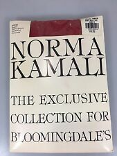 Norma Kamali Pantyhose Ruby Red Lips Size B Super Matte Opaque Sandalfoot NEW