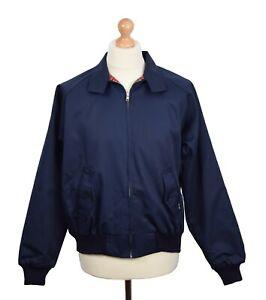 HARRINGTON JACKET NAVY BY COMBAT SKINHEAD MOD CLOTHING 60'S RETRO SOUL SKA