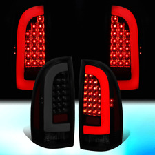 FOR 2005-2015 TOYOTA TACOMA PAIR 3D LED STRIP TAIL LIGHT REAR BRAKE LAMPS TINTED