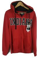 J America Indiana Hoosiers Mens Zip Through Hoodie Medium M Red Hooded BNWT