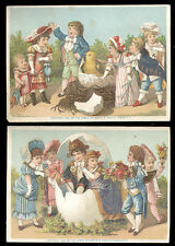 1882 ~ 2 GREAT ATLANTIC & PACIFIC TEA CO TRADE CARDS, CHILDREN,**ON SALE*8 TC485