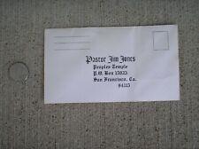 Jim Jones Peoples Temple San Francisco offering envelope Rare unused