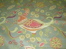 """~BTY~RICHLOOM~MODERN """"PHEASANTS BIRDS""""~AWSOME COTTON UPHOLSTERY FABRIC FOR LESS~"""