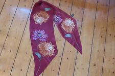 New unused ECHO Designer Red floral long silk scarf