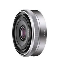 Sony single focus lens And 16 mm F 2.8 Sony and mount for APS - C SEL16F28