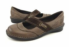 Clarks Bendables Nikki Audition Womens 7M Brown Leather Mary Jane Flats Shoes