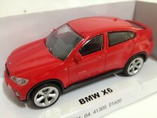 1/43 BMW X6 COLOR ROJO DIECAST RASTAR COCHE METAL ESCALA