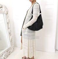 Anthropologie MOTH Cream Sheer Striped Long LS Pocket Boho Cardigan XS 8 10