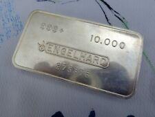10 oz. Engelhard Bull Logo 275376 Vintage 1980's bar .999 fine silver