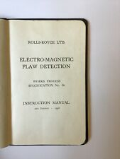RAF Rolls Royce NDT inspection Manual Handbook Merlin Griffon etc