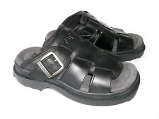 MENS CATERPILLAR CAT WLKING MACHINES BLACK LEATHER SANDALS 8 UK EXCELLENT