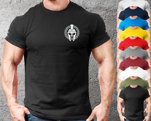 Spartan Pattern LB Gym T Shirt Mens Gym Clothing Training Top Bodybuilding