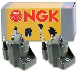 2 pcs NGK Ignition Coil for 1991-2002 Saturn SL1 1.9L L4 - Spark Plug Tune iw