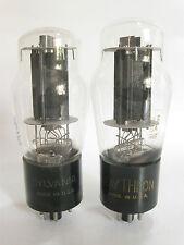 PAIR 1956 Sylvania 6L6GA Power Amp tubes - Hickok TV-7B tested @41, 43, min:25