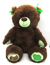 Girl Scout's THIN MINT Teddy Bear from Build A Bear BABW Brown with Green Bows