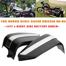 US 2 Sides Motorcycle Battery Covers Fairing For Honda Rebel CA250 CMX250 96-05