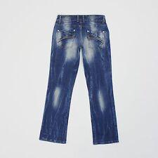 Next Womens Size 8 30L Boyfriend Bootcut Blue Jeans