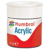 Humbrol ACRYLIC 12ml Paint Pots GLOSS Various Colours Reduced to Clear
