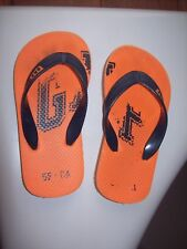 Gap Orange Navy Blue flip flops size 9-10 youth Toddler size 2T-3T
