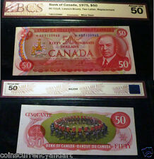 *HB Replacement ,1975 Bank OF Canada $50  - Banknote BC-51aA