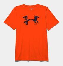 Under Armour Kid's UA Big Logo T-Shirt - YMD (9-10) - Bright Orange