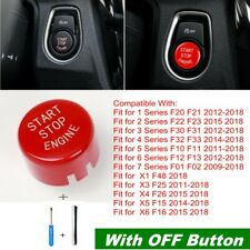 Car Engine Start Stop Button Replace Cover Red For BMW F20 F30 F10 F48 F22 F15