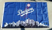 Los Angeles Dodgers Logo 3ft x 5ft LA flag, banner, Blue, Polyester, LA Skyline