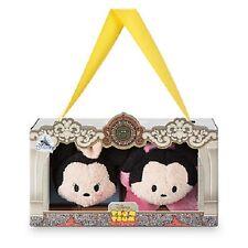 US Disney Los Angeles Mickey and Minnie Mouse Mini Tsum Tsum Set of 2 NIB!