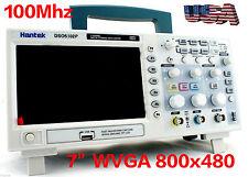 "NEW Hantek DSO5102P Digital Oscilloscope 100MHz 2CH 7"" WVGA 800x480 US free Ship"