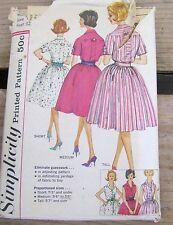 Vintage Simplicity Sewing Pattern 3860 - Dress Full Skirt Rockabilly  - Size 12
