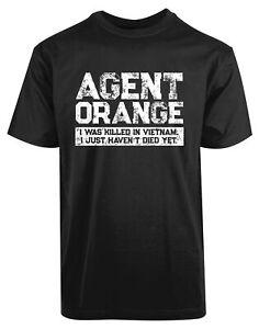 Agent Orange Vietnam Veteran New Mens shirt Killed Alive Military Brave Soul Tee
