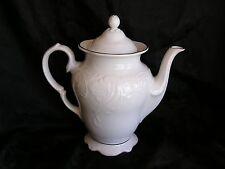 Gibson Designs Golden Legacy White Scallop Gold Trim Teapot Tea Pot w/ Lid RARE!