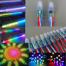 500PCS WS2811 RGB LED String Full Color Pixels 12mm Waterproof Addressable DC 5V