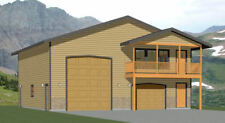 40x42 Apartment with 1-Car 1-RV Garage - PDF FloorPlan - 1,101 sqft - Model 4