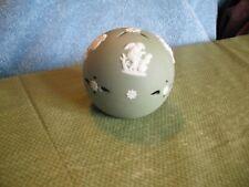 Wedgwood Made In England Green & White Jasperware Ball Ornament