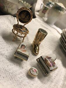 limoges miniature furniture Lot